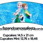 Saias Wrappers para Cupcakes Frozen Febre Congelante