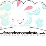 Saias Wrappers para Cupcakes Páscoa Coelhinho Cute Azul 2