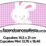 Saias Wrappers para Cupcakes Páscoa Coelhinho Cute Rosa