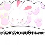 Saias Wrappers para Cupcakes Páscoa Coelhinho Cute Rosa 2