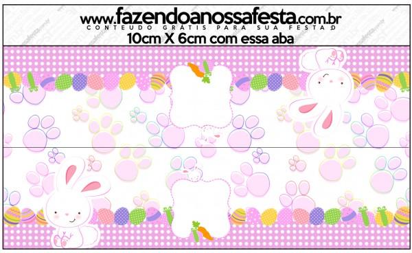 Saquinho de Balas Páscoa Coelhinho Cute Rosa