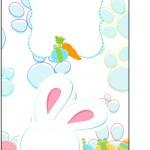 Tag Agradecimento Páscoa Coelhinho Cute Azul