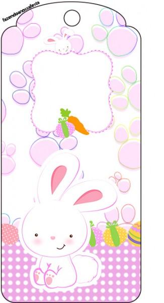Tag Agradecimento Páscoa Coelhinho Cute RosaTag Agradecimento Páscoa Coelhinho Cute Rosa