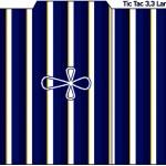 Tic Tac Batizado Menino Azul Marinho e Branco