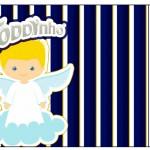 Toddynho Batizado Azul Marinho Anjinho Loiro