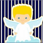 Tubetes Batizado Azul Marinho Anjinho Loiro