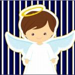 Tubetes Batizado Menino Azul Marinho e Branco
