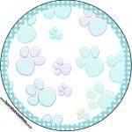 Tubetes, Latinhas e Toppers Páscoa Coelhinho Cute Azul