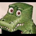 Molde Dinossauro 3D de Papel que Mexe a Cabeça (Ilusão)