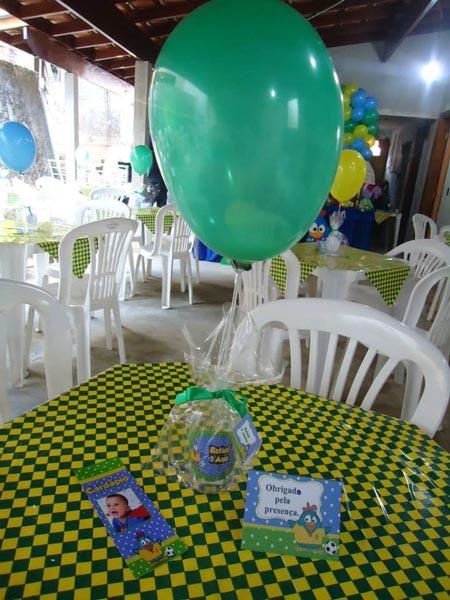 Centro de Mesa Festa Galinha Pintadinha na Copa