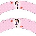 Saias Wrappers para Cupcakes Show da Luna para Meninas