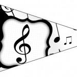 Bandeirinha Sanduiche 5 Notas Musicais