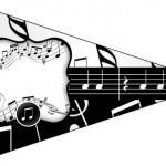 Bandeirinha Sanduiche 6 Notas Musicais