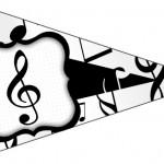 Bandeirinha Sanduiche 7 Notas Musicais