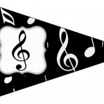 Bandeirinha Sanduiche 8 Notas Musicais