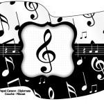 Bandeirinha Sanduiche Notas Musicais 2