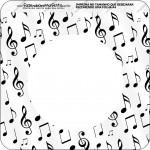 Bandeirinha Varalzinho Quadrada Notas Musicais