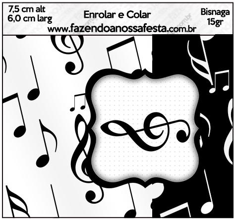 Bisnaga brigadeiro 15 gr Notas Musicais