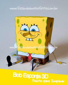 Bob Esponja 3D - Pronto para Imprimir