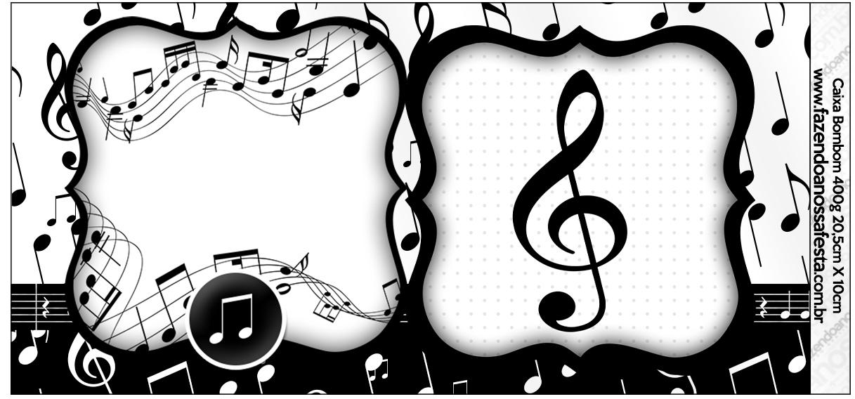 Caixa Bombom Notas Musicais  Fazendo a Nossa Festa