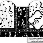 Caixa Coração Notas Musicais