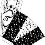 Caixa Fatia Notas Musicais