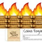 Caixa Fogueira para Festa Junina - FNF Blof - Papercraft Box