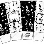 Caixa Pipoca Notas Musicais