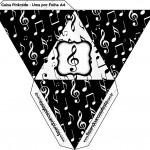 Caixa Pirâmide Notas Musicais