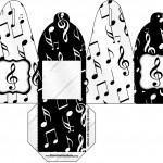 Caixa com Foto Notas Musicais