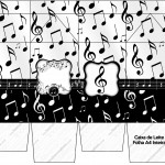 Caixa de Leite Notas Musicais
