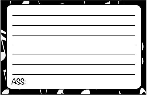 Cartão Agradecimento Notas Musicais 2