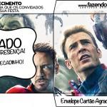 Cartão Agradecimento Os Vingadores 2
