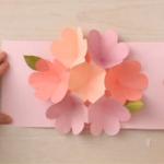 Cartão Flor Pop Up Dia das Mães