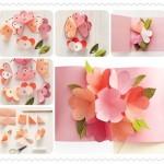 Cartão Flor Pop Up para o dia das Mães – Passo a Passo