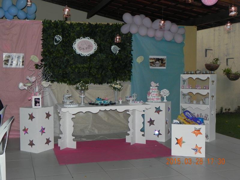 Decoraç u00e3o Jardim Encantado Fazendo a Nossa Festa~ Decoração De Cha De Fraldas Simples Tema Jardim Encantado