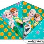 Cone Guloseimas 4 lados Frozen Fever