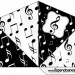 Cone Guloseimas 4 lados Notas Musicais