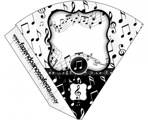 Cone Guloseimas Notas Musicais