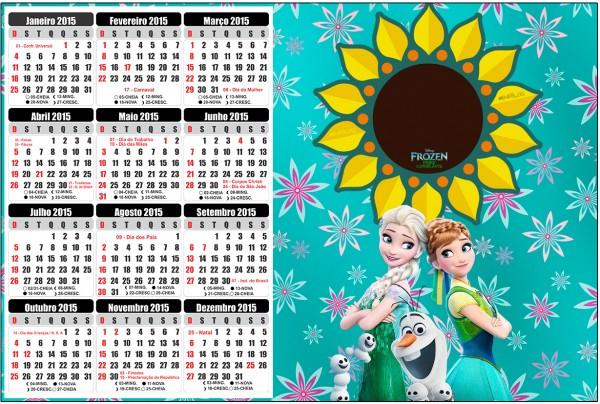 Convite Calendário 2015 Frozen Fever