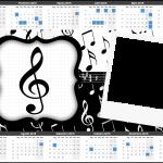 Convite Calendário 2015 Notas Musicais
