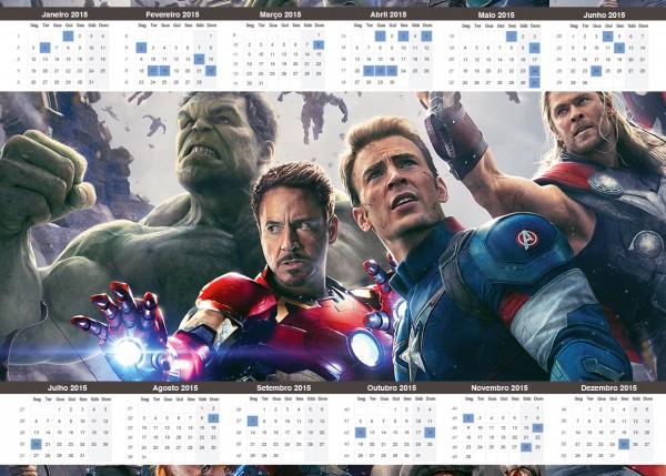 Convite Calendário 2015 Os Vingadores 2