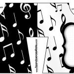 Convite Camisa Notas Musicais