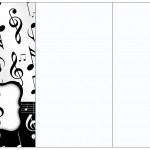 Convite, Cardápio ou Cronograma em Z Notas Musicais