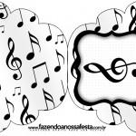 Convite Cupcake Notas Musicais
