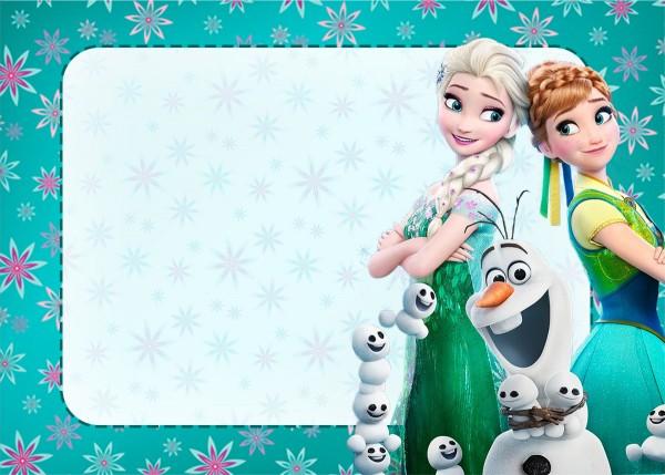 Convite Frozen Febre Congelante