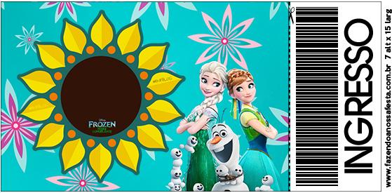 Convite Ingresso Frozen Fever