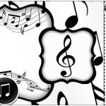 Convite Ingresso Notas Musicais