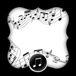 Convite, Moldura e Cartão Notas Musicais 2