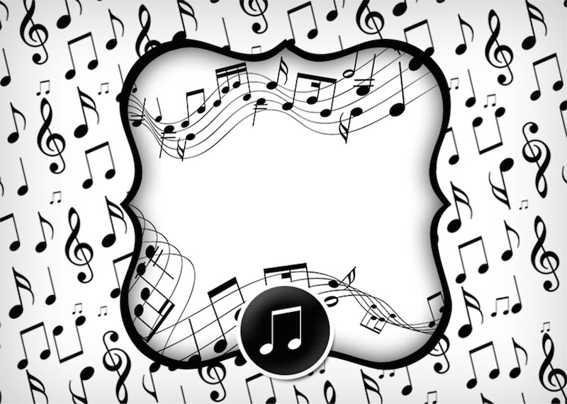 Letras Minegraft Fazendo A Nossa Festa: Tema Notas Musicais Festa De Aniversário
